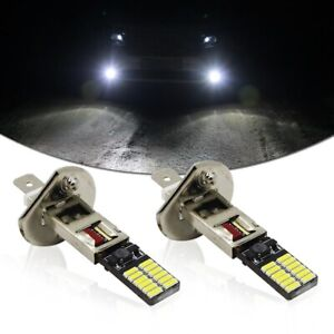 Universal Brightness Hid White 6500k 24 Smd Led Bulbs For Fog Light Driving Drl