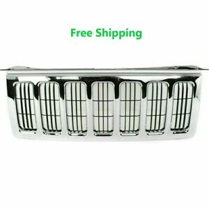 New Chrome Grille With Vertical Bar Insert 2006 2010 Jeep Commander Ch1200303