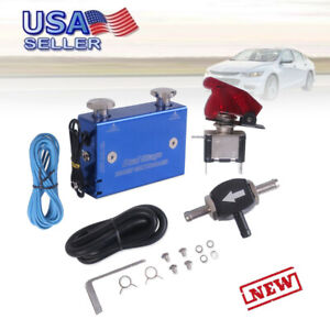 Black Dual Stage Electronic Turbocharger Psi Boost Controller Kit W Switch