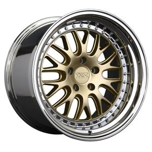 Xxr Wheels 570 Rim 20x9 5x4 5 Offset 20 Hyper Gold Platinum Lip qty Of 4
