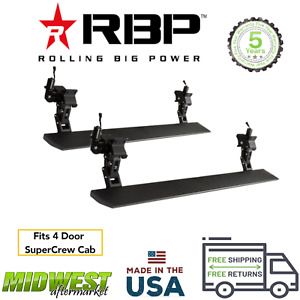 Rbp Stealth Power Black Electric Running Boards For 2015 2020 Ford F150 Crew Cab