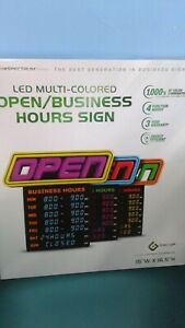 Led Multi colored Open business Hours Sign