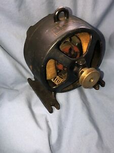 S H Small Electric Bipolar Vintage Antique Open Frame Motor