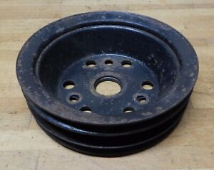 1963 74 Chevrolet Single Groove Crank Pulley Set 3751232 bb 3755820 bc
