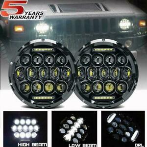 Dot 7 In Cree Led Headlight Pair Round Halo Projector For 1963 1978 Chevy Nova