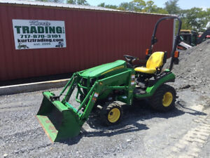 2015 John Deere 1025r 4x4 Hydro Compact Tractor Loader Only 300hrs