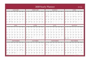 Blue Sky Laminated Dry erase Yearly Wall Calendar 24 X 36 116054 20