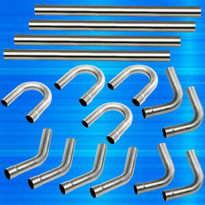 2 5 Custom Exhaust Tubing Mandrel Bend Pipe Straight U bend Kit