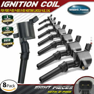8x Ignition Coil For Ford E150 F150 F250 F550 Lincoln Mercury 4 6 5 4 6 8l Dg508