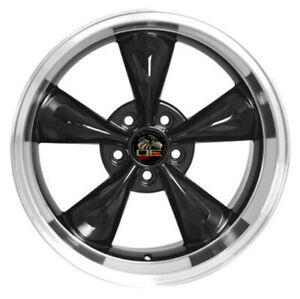 Wheel 1994 2004 Ford Mustang 18 Inch Alloy Rim 5 Lug 114 3mm Machined Lip Black