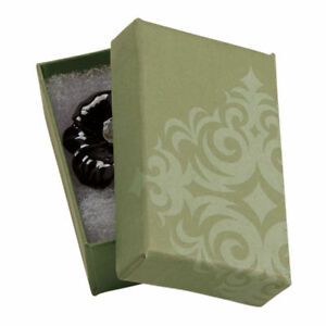 Jewelry Boxes 50 Sage Green Damask 2 1 2 X 1 1 2 X 7 8 Print Cotton Filled
