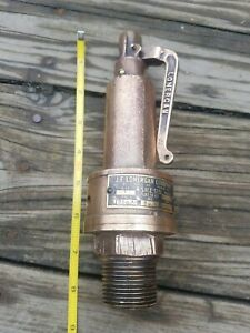 Antique Vintage J E Lonergan Solid Brass Steam Engine Pressure Valve 8 1