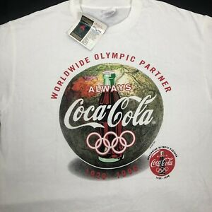VTG 1996 Coca Cola Atlanta Worldwide Olympic T Shirt Sz XL Made In USA By Hanes