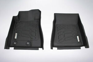 2 piece Front Row Black Floor Mats For 2015 2019 Ford Mustang mustang Gt350 350r