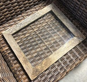 Large Rustic Vintage Handmade Barn Board Picture Frame 19 X 16