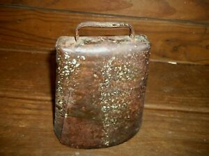 Antique Hand Forged Farm Bell Old Large Cowbell Metal Cattle Bell