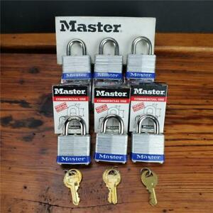 Lot Of 6 New Master Lock 3ka Keyed Alike Identical Same Padlocks Set