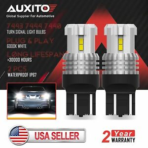 2x Auxito 7443 7440 Led Backup Reverse Parking Light Bulbs 6000k Xenon White