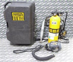 Used Msa Ultralite Ii Low Pressure Scba Mask Harness Regulator And Tank