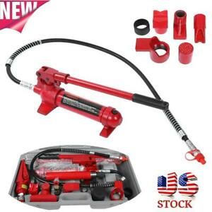 1 Set Red 4 Tons Hydraulic Power Car Truck Van Jack Body Power Repair Kit Tools