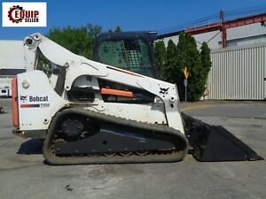2015 Bobcat T750 Skid Steer Track Loader Diesel Enclosed Cab