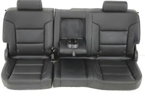2014 2019 Chevy Silverado Rear Back Bench Seat Leather Crew Cab