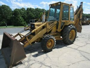 1988 Ford 555b Tractor Loader Backhoe 4x4 Cab Ext Hoe 4532 Hours