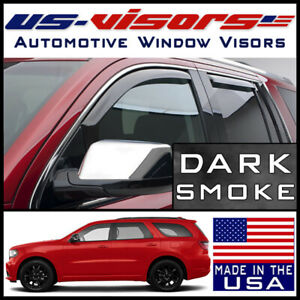 Us Visors Window Vent Visors Guards In Channel Fit 2011 2020 Dodge Durango