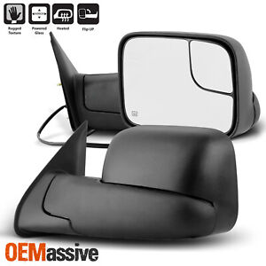 For 2005 2015 Toyota Tacoma Manual Extendable Power Heated Adjusted Mirrors Pair