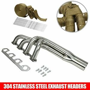 Performance Stainless Steel Exhaust Headers Pro Four For Ford Pinto Mustang 2 3l