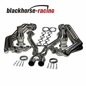 For Chevy Corvette 97 04 C5 Ls1 L6 Stainless Exhaust Headers Manifolds X Pipe