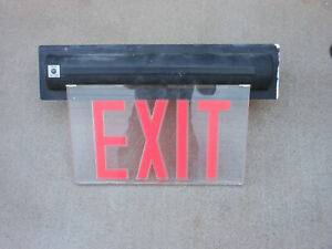 Lighting Led Clear Exit Sign Aluminum