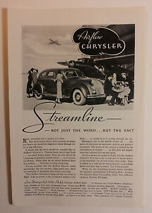 1934 Chrysler Airflow Ad Must See