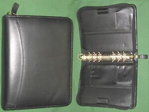 Compact 1 25 Black Full Grain Leather Franklin Covey Quest Planner Binder 2032