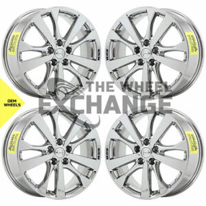 18 Nissan Altima Pvd Chrome Wheels Rims Factory Oem 62720 Set 4