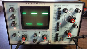 Heathkit Io 4235 35 Mhz Dual Trace Oscilloscope With Manuals