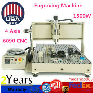 Usb 4 Axis 6090 Cnc Router Engraver Drilling Milling 3d Cutter Machine handwheel