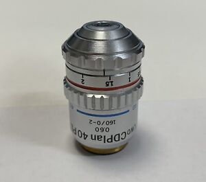 Olympus Lwd Cdplan 40x Pl Phase Contrast Microscope Objective 160mm Cd Plan 40pl