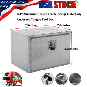 Aluminum Pickup Truck 24 Underbody Bed Tool Box Under Trailer Tool Storage New