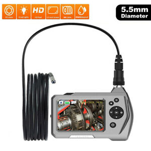 5 5mm Micro Industrial Endoscope Inspection Camera 3 5 Lcd Borescope Waterproof