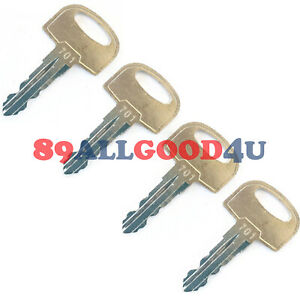 4x Ignition Key 701 105 1790 For Ditch Witch Trencher And Directional Drill