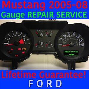 Repair Service 2005 Ford Mustang Instrument Panel Gauge Cluster 05 06 07 08