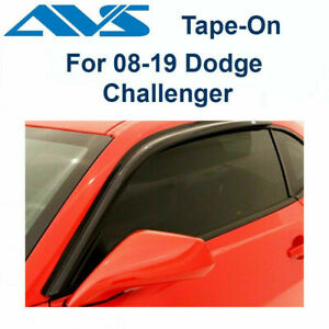 Avs Rain Guards 92010 2pc Window Vent Visor Fit 08 19 Dodge Challenger tape on