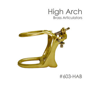 10 High Arch Brass Denture Articulators For Dental Lab