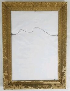 Antique Wood Gesso Picture Frame French Baroque Vintage 20 X 28