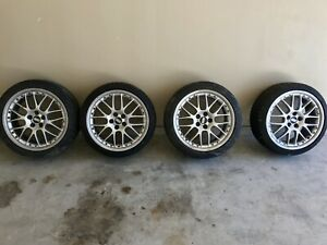 Set Of 17x7 5 Bbs Rx 5x100 With Tires