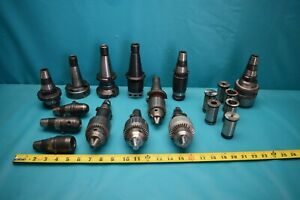 Used Lot Of 40nmtb Quick Change Holders 6 Collets 4 Chucks Face Mill