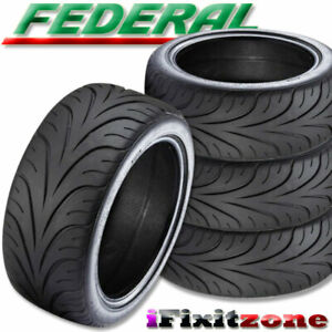 4 New Federal 595rs R 195 50zr15 82w Summer Performance Sport Racing Uhp Tire