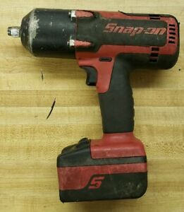 Snap On 18v Lithium Ion Cordless 1 2 Impact Wrench W Battery