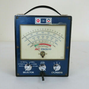 Vintage 1970s Ac Delco Gm Auto Engine Tester Meter Gauge Gm Street Rat Hot Rod